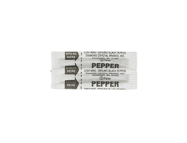 Packet Brand Fluted Pepper Packets, 0.11 Gram -- 3000 per case.