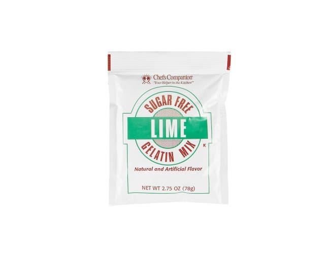 Chefs Companion Sugar Free Lime Gelatin Mix, 2.75 Ounce -- 18 per case.