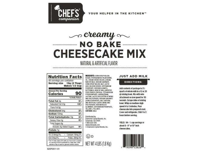 Chefs Companion No Bake Creamy Cheesecake Mix, 4 Pound -- 6 per case.