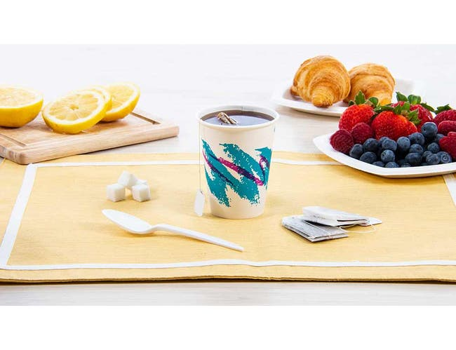 Solo Jazz Design Single Sided Poly Coated Paper Hot Cup, 8 Ounce - 50 per pack -- 20 packs per case.