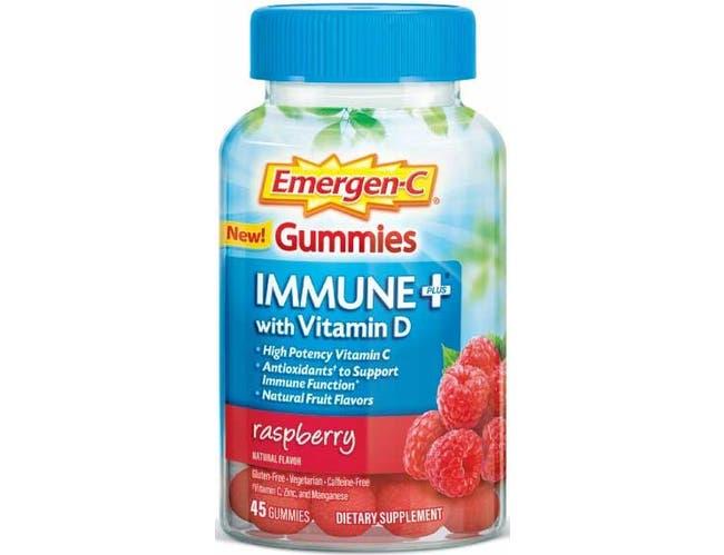 Emergen-C Immune Plus Raspberry Gummies, 45 count per pack -- 12 per case.