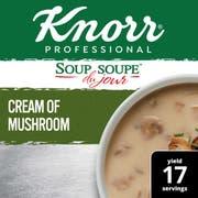 Knorr Professional Soup du Jour Cream of Mushroom Soup Mix, 19.6 ounce -- 4 per case