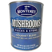 Monterey Gourmet Blend Mushroom Pieces and Stems, 100 Ounce -- 6 per case