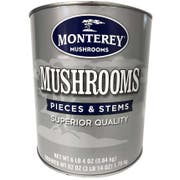 Monterey Superior Mushrooms Pieces and Stems, 100 Ounce -- 6 per case