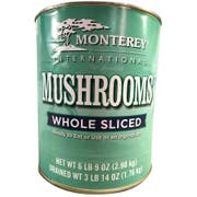 Monterey International Whole Sliced Mushroom, 100 Ounce -- 6 per case