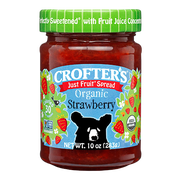 Crofters Organic Strawberry Just Fruit Spread, 10 Ounce -- 6 per case.