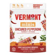Vermont Smoke and Cure Uncured Pepperoni Turkey Sticks, 3 Ounce -- 8 per case