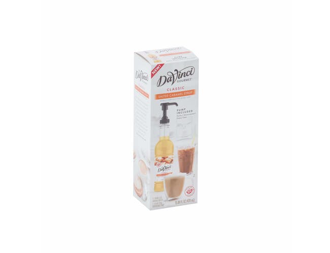 Davinci Gourmet Salted Caramel Syrup with Pump, 470 Milliliter -- 6 per case.