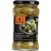 Gaea Garlic Stuffed Green Olives, 6 Ounce -- 8 per case