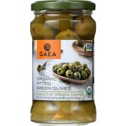 Gaea Organic Pitted Green Olives, 4.9 Ounce -- 8 per case