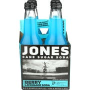 Jones Berry Lemonade Cane Sugar Soda, 4 count per pack -- 6 per case