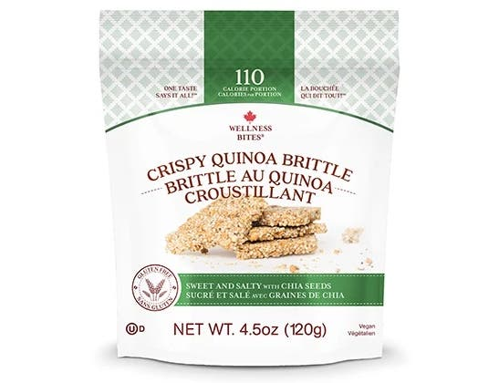 Wellness Bites Sweet and Salty Crispy Quinoa Brittle Snack, 4.5 Ounce -- 12 per case