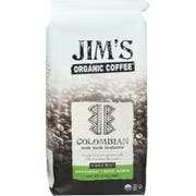 Jims Organic Coffee Colombian Whole Bean Coffee, 12 Ounce -- 6 per case