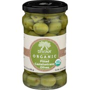 Divina Organic Pitted Castelvetrano Olives, 4.9 Ounce -- 6 per case