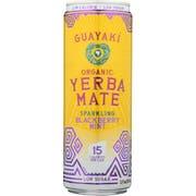 Guayaki Sparkling Blackberry Mint Yerbamate, 12 Fluid Ounce -- 12 per case