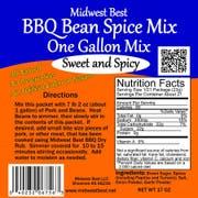 Midwest Best BBQ Bean Spice Mix, Mixes 1 Gallon of Beans, 17 ounce -- 12 per case