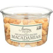Aurora Natural Dry Roasted Salted Macadamia Nut, 8 Ounce -- 12 per case