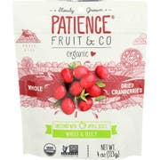 Patience Fruit and Co Organic Whole Dried Cranberries, 4 Ounce -- 8 per case