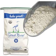 Great River Organic Whole Wheat Pastry Flour, 25 Pound -- 1 each