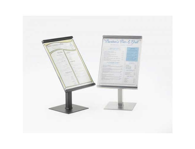 Cal Mil Silver One by One Metal Magnetic Sign Display, 8.75 x 8.75 x 15.5 inch -- 1 each.