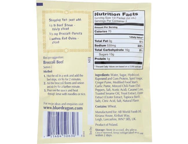 Blue Dragon Broccoli Beef Stir Fry Sauce, 3.4 Ounce -- 12 per case