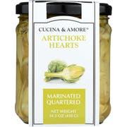 Cucina and Amore Quartered Marinated Artichoke Hearts, 14.5 Ounce -- 6 per case