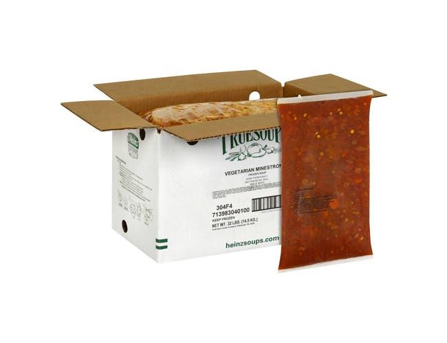 TrueSoups Vegetarian Minestrone - 8 lb. bag, 4 per case