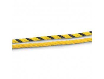 Color - Yellow-Black Twisted polypropylene rope -- 1 Feet.