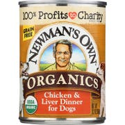 Newmans Own Organic Grain Free Chicken and Liver Dinner for Dog, 12.7 Ounce Can -- 12 per case