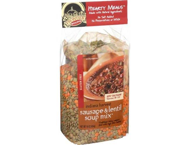Frontier Soups Indiana Harvest Sausage Lentil Soup Mix, 16 Ounce -- 8 per case