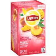Lipton Peach Mango Herbal Tea Bag, 20 count per pack -- 6 per case.