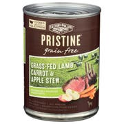 Castor and Pollux Pristine Grain Free Grass Fed Lamb Carrot and Apple Stew Wet Dog Food, 12.7 Ounce Can -- 12 per case