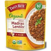 Tasty Bite Organic 3 Bean Madras Lentil, 10 Ounce -- 6 per case