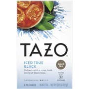 Tazo Iced True Black Tea - 6 tea bags per pack -- 4 packs per case