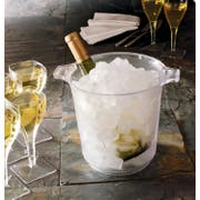 Party Tray Clear Ice Bucket, 1 Gallon -- 6 per case.