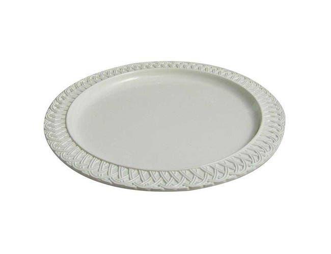 Plum Bon Chef Sandstone Trellis Round Display Platter, 18 inch -- 1 each.