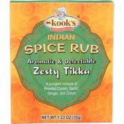 Mr. Kooks Zesty Tikka Indian Spice Rub Seasoning, 1.23 Ounce -- 6 per case