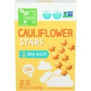 From The Ground Up Cauliflower Sea Salt Stars, 3.5 Ounce -- 6 per case