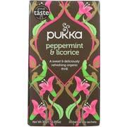 Pukka Herbs Peppermint and Licorice Herbal Tea, 20 tea bags per pack -- 6 per case
