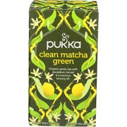 Pukka Herbs Organic Clean Matcha Green Tea, 20 count per pack -- 6 per case