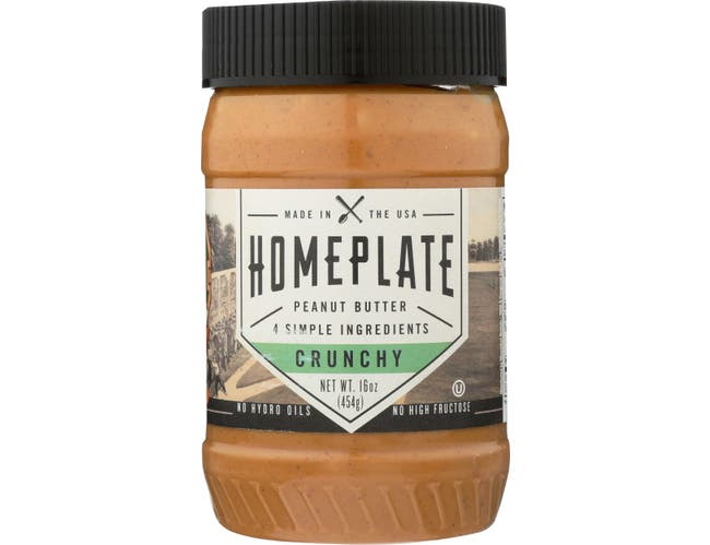 Home Plate Crunchy Peanut Butter, 16 Ounce -- 6 per case