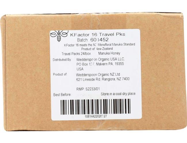 Wedderspoon On The Go 100 Percent Raw Manuka Honey, 24 packets per pack -- 6 per case