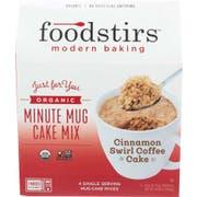 Foodstirs Organic Cinnamon Swirl Coffee Cake Minute Mug Cake Mix, 10.6 Ounce -- 6 per case