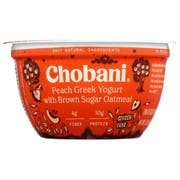 Chobani Peach Greek Yogurt with Brown Sugar Oatmeal, 5.3 Ounce -- 12 per case