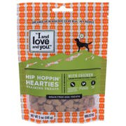 I and Love and You Hip Hoppin Hearties with Chicken Dog Treats, 5 Ounce -- 6 per case