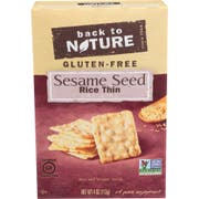 Back To Nature Sesame Seed Rice Thin Cracker, 4 Ounce -- 12 per case