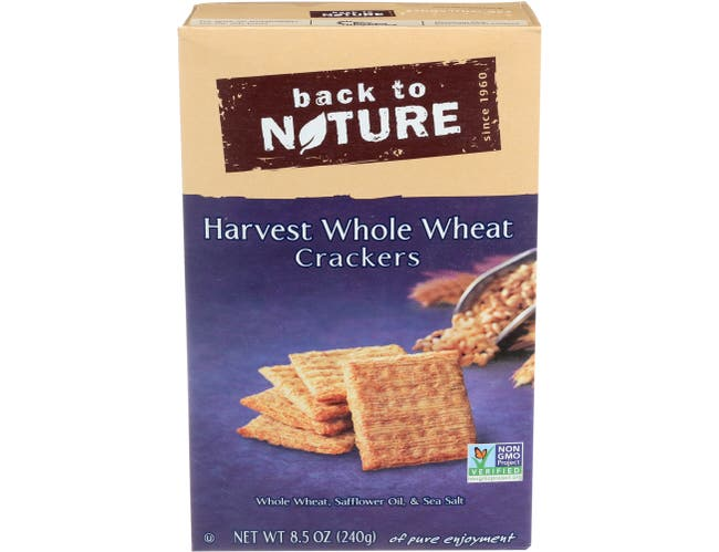 Back to Nature Harvest Whole Wheat Cracker, 8.5 Ounce -- 12 per case