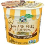 Bakery on Main Organic Oats and Happiness Walnut Banana Oatmeal Cup, 1.9 Ounce -- 12 per case