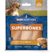 Barkworthies Superbones Ancient Grain with Peanut Butter Dog Chews, 6 Ounce -- 12 per case