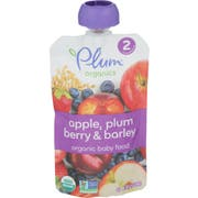 Plum Organics Plum Berry and Barley Puree, 3.5 Ounce -- 6 per case
